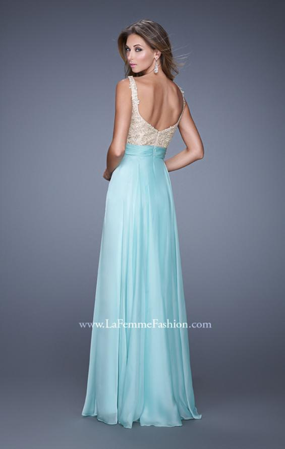 Picture of: Long Chiffon Prom Gown with Sweetheart Neckline, Style: 20709, Back Picture