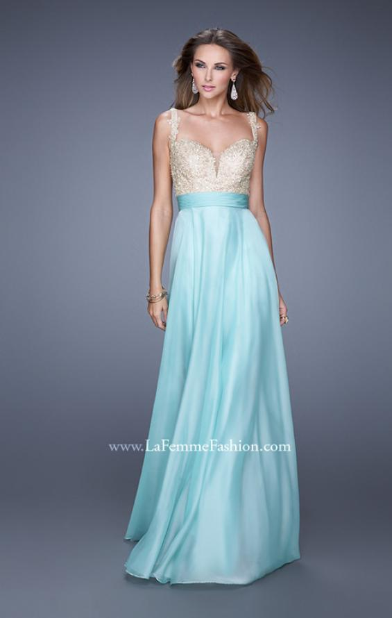 Picture of: Long Chiffon Prom Gown with Sweetheart Neckline, Style: 20709, Detail Picture 1