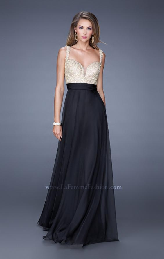 Picture of: Long Chiffon Prom Gown with Sweetheart Neckline, Style: 20709, Detail Picture 2