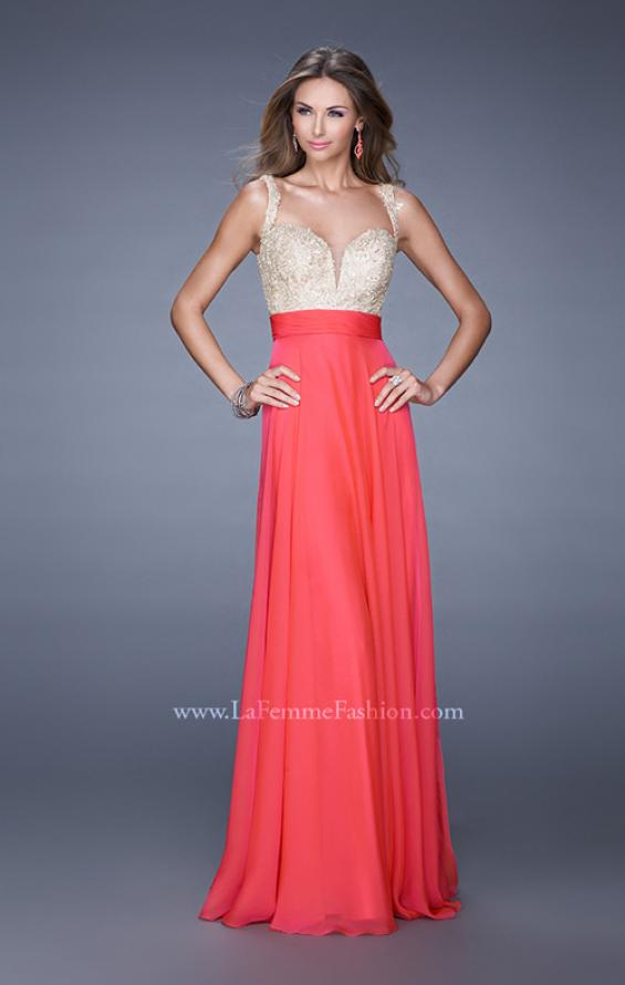 Picture of: Long Chiffon Prom Gown with Sweetheart Neckline, Style: 20709, Detail Picture 4