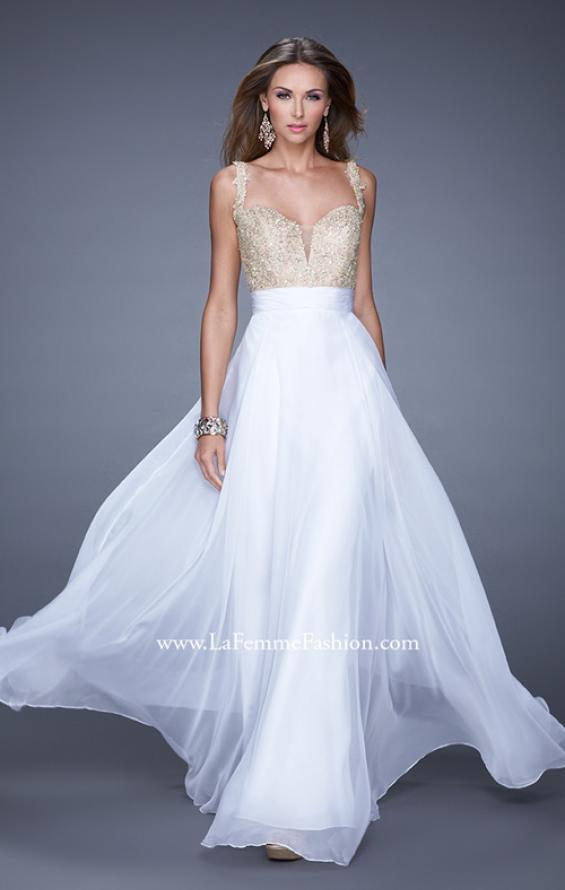 Picture of: Long Chiffon Prom Gown with Sweetheart Neckline, Style: 20709, Detail Picture 5