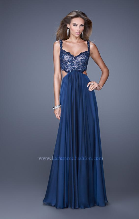 Picture of: Sparkling Lace Bodice Chiffon Long Prom Dress, Style: 20710, Main Picture
