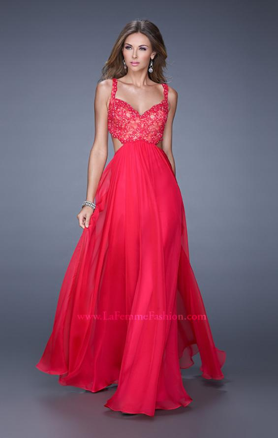 Picture of: Sparkling Lace Bodice Chiffon Long Prom Dress, Style: 20710, Detail Picture 1