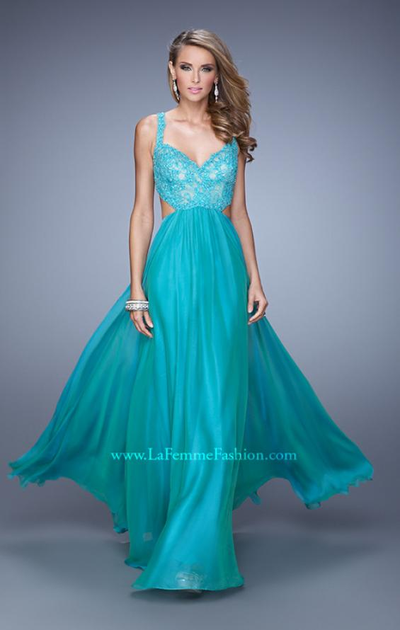 Picture of: Sparkling Lace Bodice Chiffon Long Prom Dress, Style: 20710, Detail Picture 2