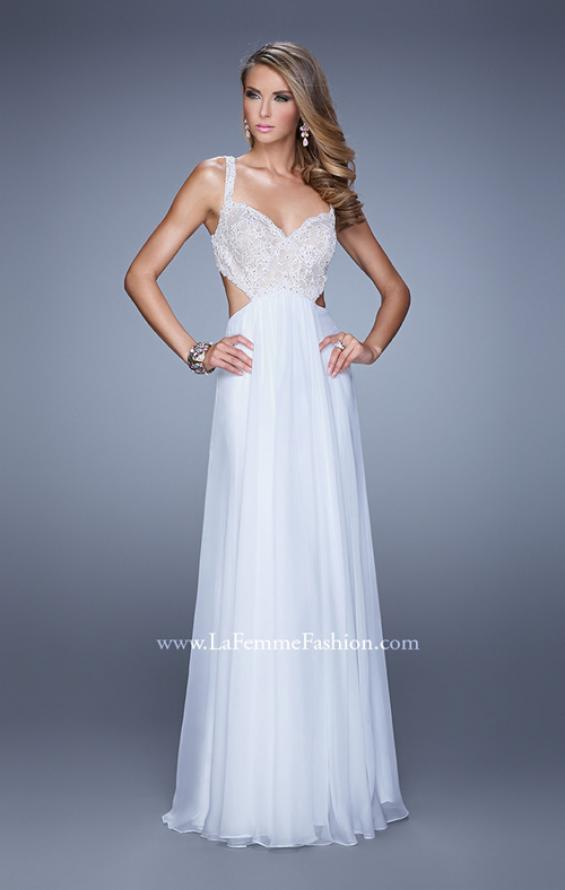 Picture of: Sparkling Lace Bodice Chiffon Long Prom Dress, Style: 20710, Detail Picture 3