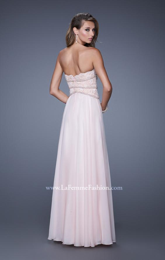 Picture of: Embellished Strapless Gown with Sweetheart Neck in Pink, Style: 20743, Back Picture