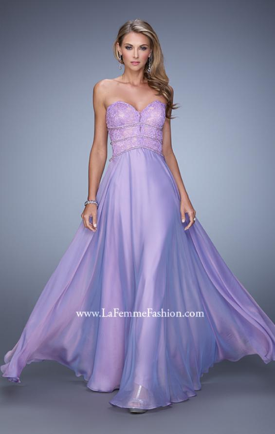 Picture of: Embellished Strapless Gown with Sweetheart Neck in Purple, Style: 20743, Detail Picture 2