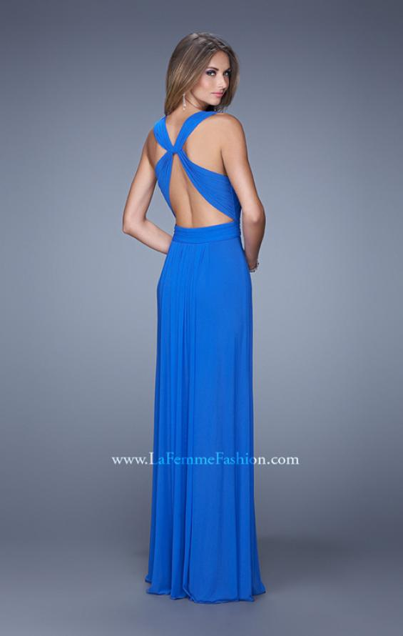 Picture of: Long Prom Dress with Adjustable Straps, Style: 20765, Back Picture