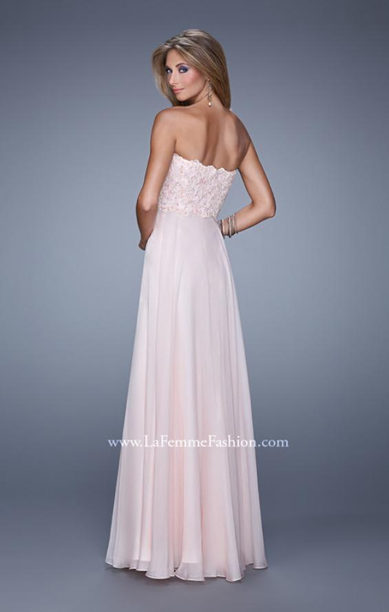 Picture of: Strapless Chiffon Dress with Sweetheart Neck and Ruching, Style: 20815, Back Picture