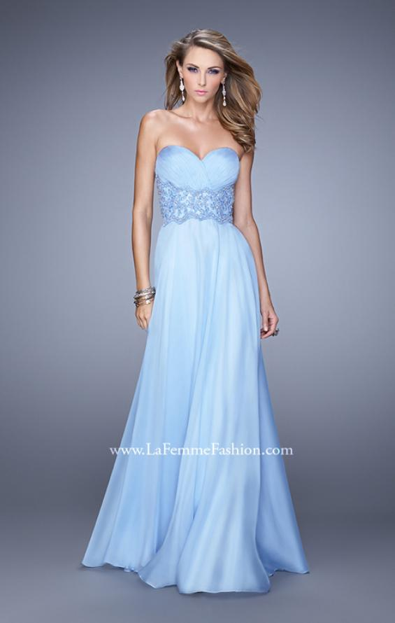 Picture of: Strapless Chiffon Dress with Sweetheart Neck and Ruching, Style: 20815, Detail Picture 2