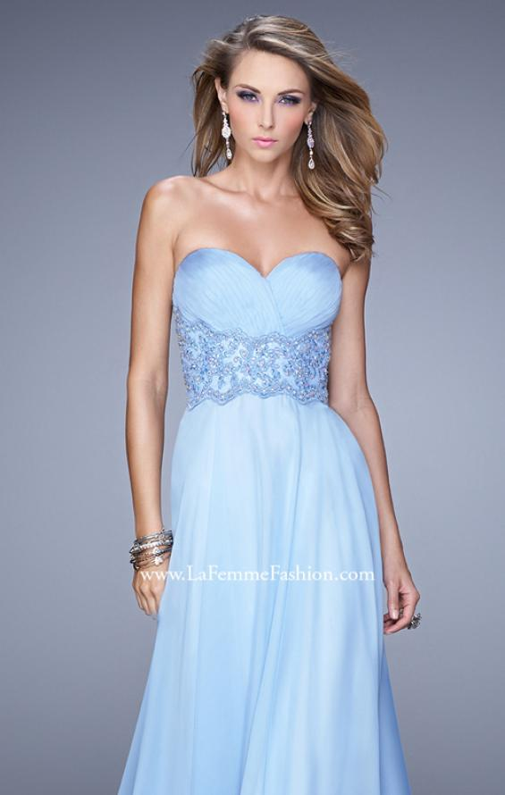 Picture of: Strapless Chiffon Dress with Sweetheart Neck and Ruching, Style: 20815, Detail Picture 4