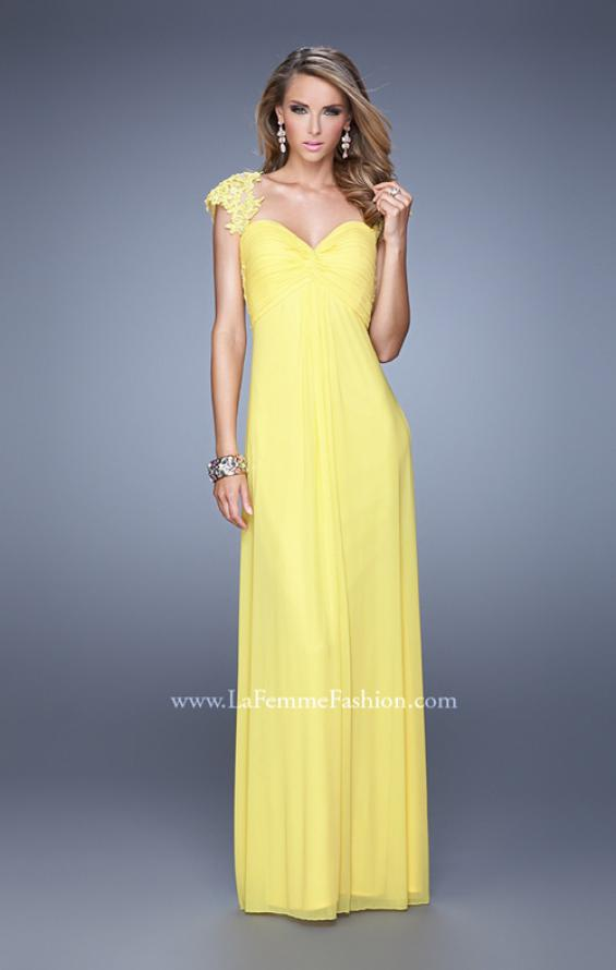 Picture of: Cap Sleeve Net Jersey Dress with Keyhole Back, Style: 20844, Detail Picture 3