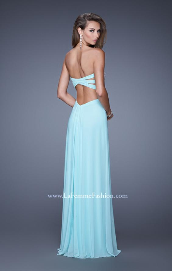 Picture of: Embellished Net Jersey Dress with Cut Outs and Side Straps, Style: 20861, Back Picture