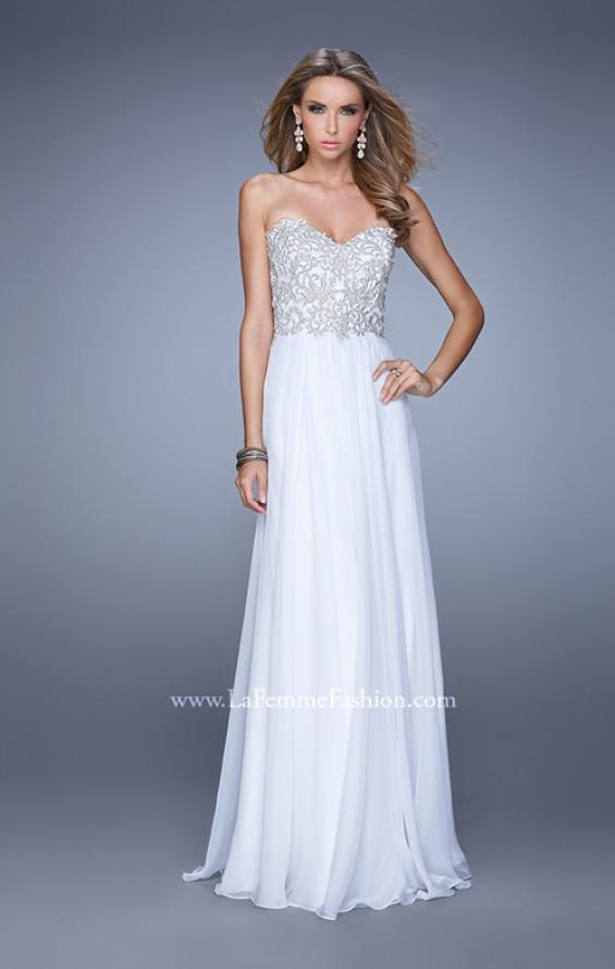 Picture of: Embellished Strapless Dress with Gathered Chiffon Skirt, Style: 20888, Detail Picture 2