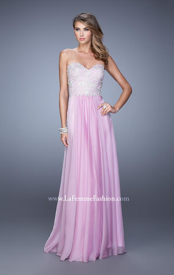 Picture of: Embellished Strapless Dress with Gathered Chiffon Skirt, Style: 20888, Detail Picture 5