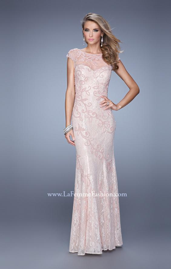 Picture of: Lace Dress with Vintage Inspired Pearls and Cap Sleeves, Style: 20892, Detail Picture 1