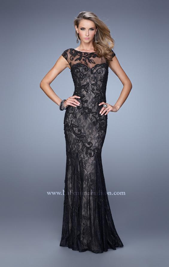 Picture of: Lace Dress with Vintage Inspired Pearls and Cap Sleeves, Style: 20892, Detail Picture 2