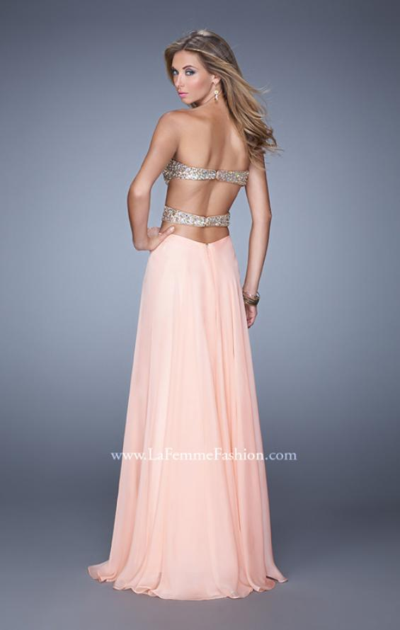 Picture of: Strapless Prom Gown with Cut Outs and Sequins, Style: 20904, Back Picture