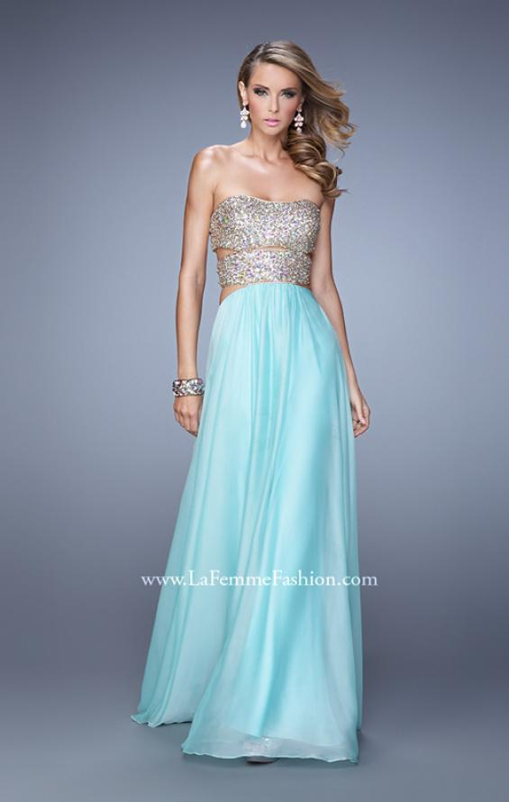 Picture of: Strapless Prom Gown with Cut Outs and Sequins, Style: 20904, Detail Picture 2