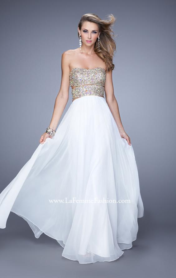 Picture of: Strapless Prom Gown with Cut Outs and Sequins, Style: 20904, Detail Picture 3