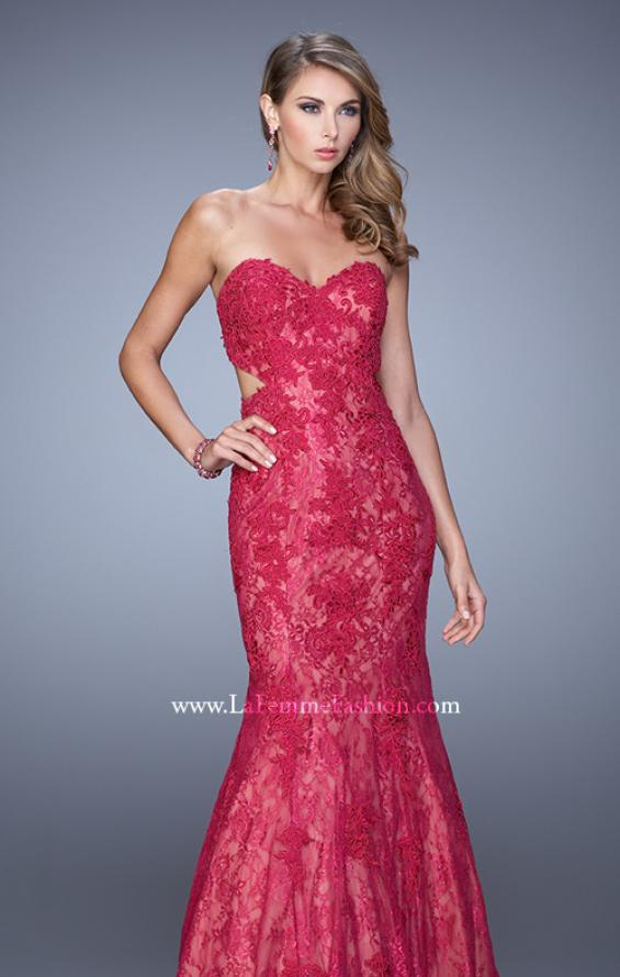 Picture of: Long Lace Mermaid Prom Gown with Open Back, Style: 20925,