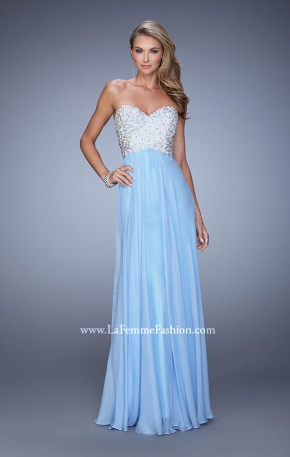 Picture of: Chiffon Prom Dress with Sweetheart Neckline and Pearls, Style: 20952, Detail Picture 6