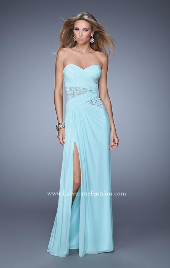 Picture of: Jersey Prom Dress with Sheer Lace Detail, Style: 20959, Main Picture