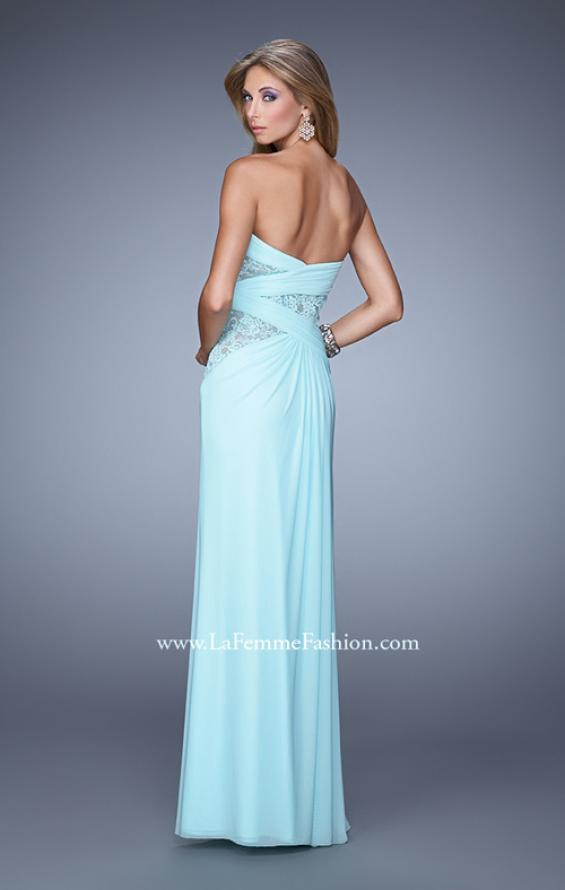 Picture of: Jersey Prom Dress with Sheer Lace Detail, Style: 20959, Back Picture