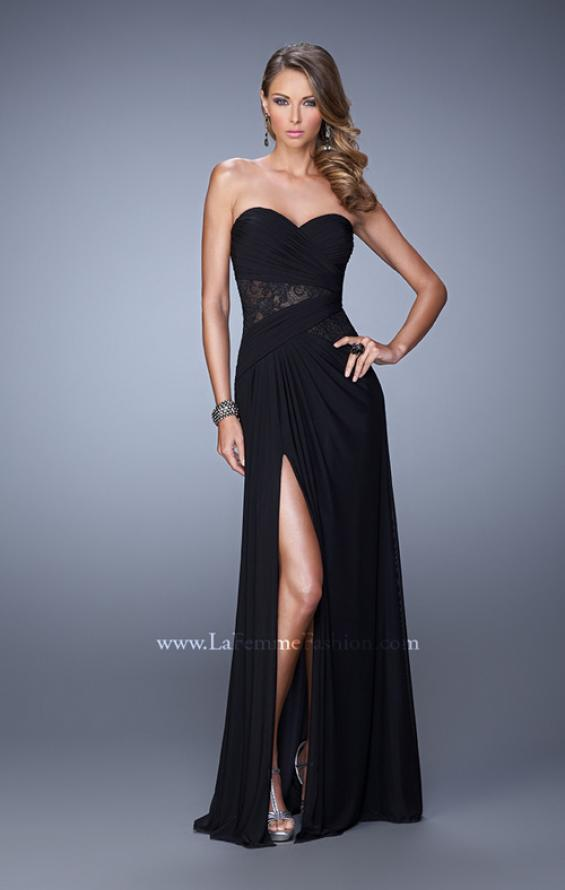 Picture of: Jersey Prom Dress with Sheer Lace Detail, Style: 20959, Detail Picture 1