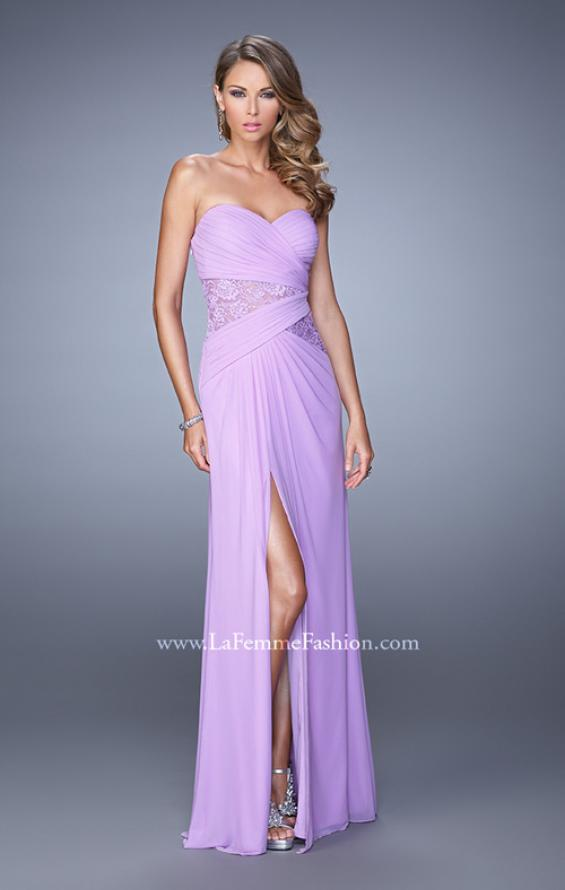Picture of: Jersey Prom Dress with Sheer Lace Detail, Style: 20959, Detail Picture 2
