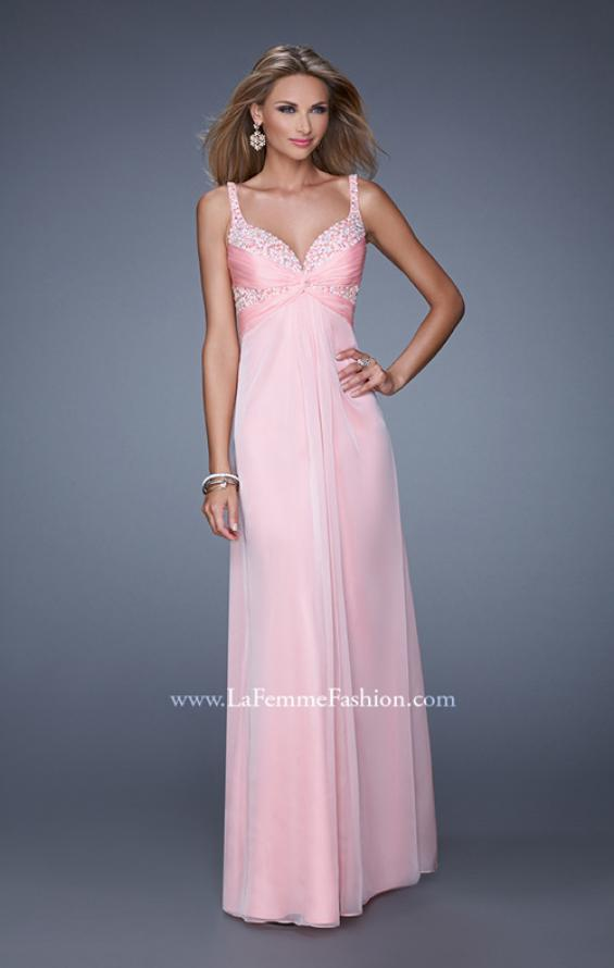 Picture of: Long Chiffon Prom Dress with Gathered Knot Detailing, Style: 20978, Main Picture