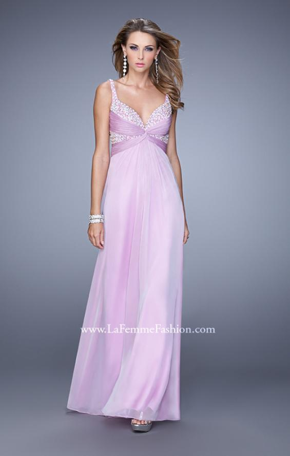 Picture of: Long Chiffon Prom Dress with Gathered Knot Detailing, Style: 20978, Detail Picture 2