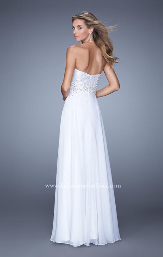 Picture of: Sequined Bodice Long Chiffon Prom Dress, Style: 20985, Back Picture