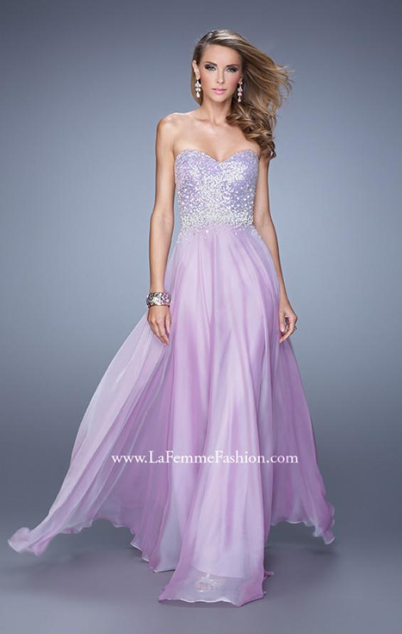 Picture of: Sequined Bodice Long Chiffon Prom Dress, Style: 20985, Detail Picture 2