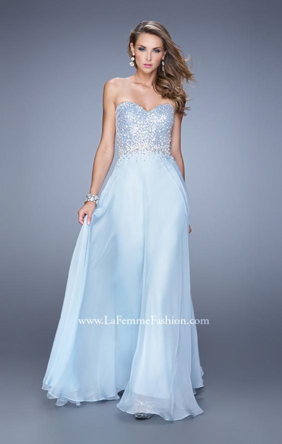 Picture of: Sequined Bodice Long Chiffon Prom Dress, Style: 20985, Detail Picture 4
