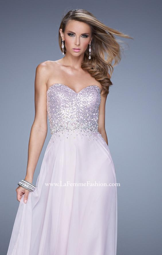 Picture of: Sequined Bodice Long Chiffon Prom Dress, Style: 20985, Detail Picture 6