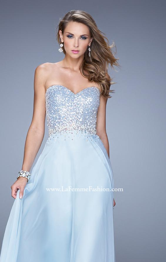 Picture of: Sequined Bodice Long Chiffon Prom Dress, Style: 20985, Detail Picture 7