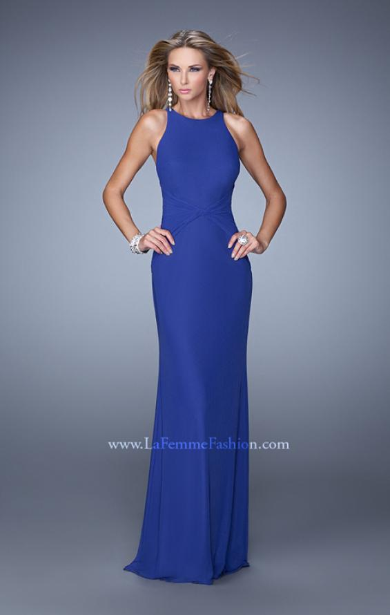 Picture of: Elegant Prom Dress with High Neck and Waist Gathering, Style: 21038, Main Picture