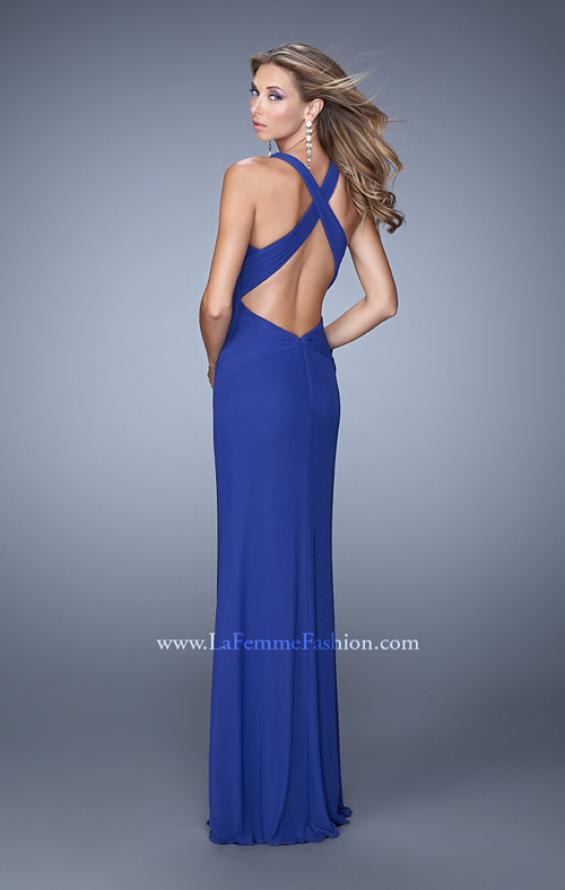 Picture of: Elegant Prom Dress with High Neck and Waist Gathering, Style: 21038, Back Picture