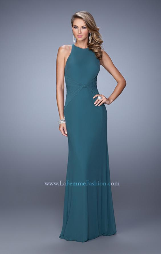 Picture of: Elegant Prom Dress with High Neck and Waist Gathering, Style: 21038, Detail Picture 2