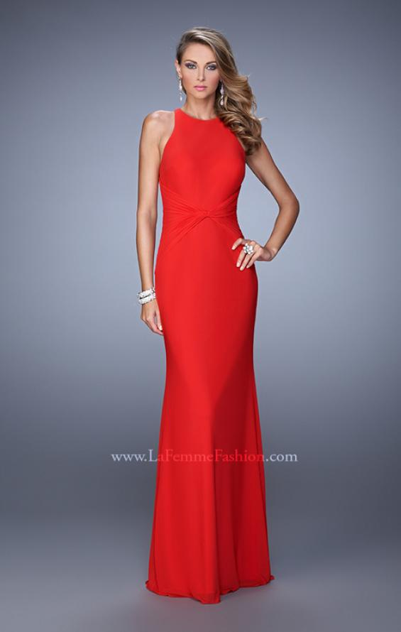Picture of: Elegant Prom Dress with High Neck and Waist Gathering, Style: 21038, Detail Picture 3