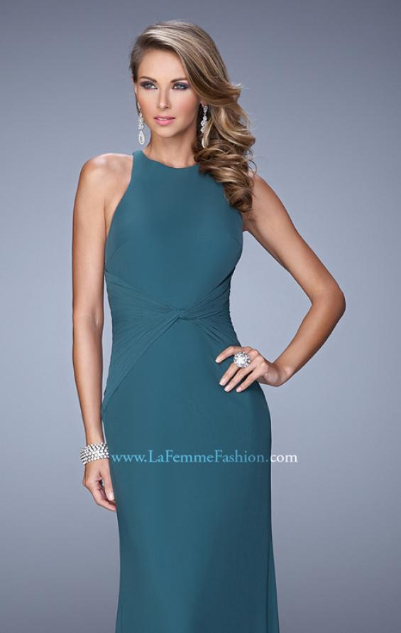 Picture of: Elegant Prom Dress with High Neck and Waist Gathering, Style: 21038, Detail Picture 4