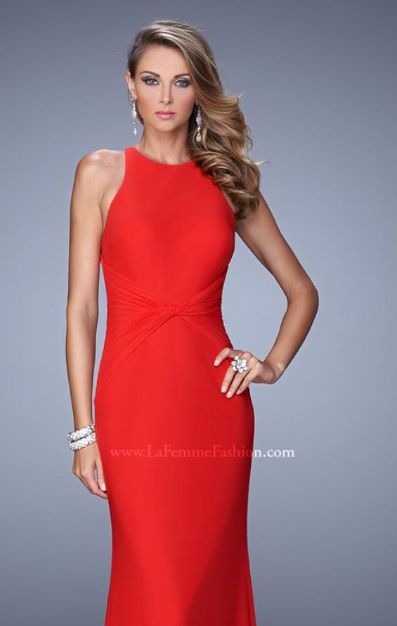 Picture of: Elegant Prom Dress with High Neck and Waist Gathering, Style: 21038, Detail Picture 5