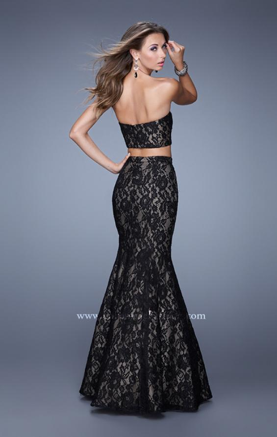 Picture of: Two Piece Lace Dress with Mermaid Skirt, Style: 21050, Back Picture