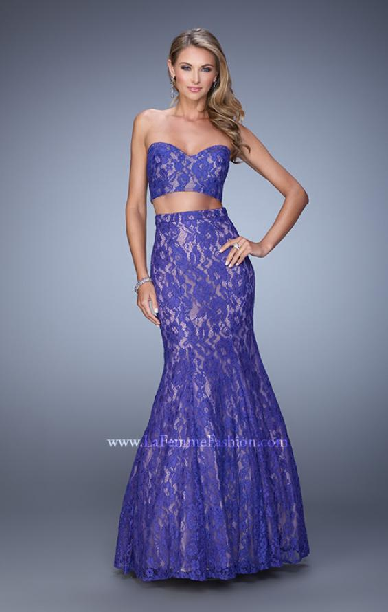 Picture of: Two Piece Lace Dress with Mermaid Skirt, Style: 21050, Detail Picture 1