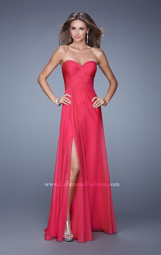 Picture of: Sweetheart Neckline Prom Dress with Crisscross Bodice, Style: 21057, Back Picture