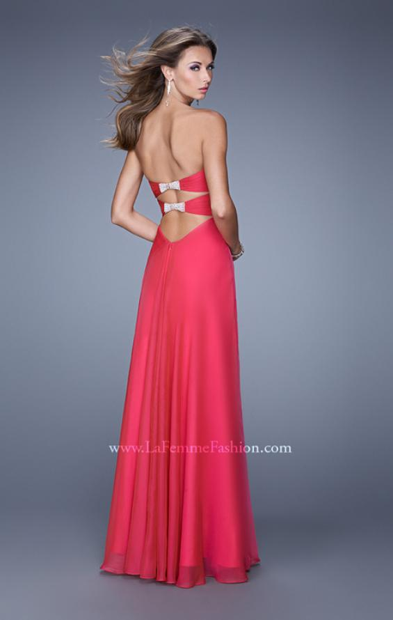 Picture of: Sweetheart Neckline Prom Dress with Crisscross Bodice, Style: 21057, Detail Picture 1