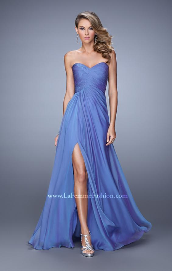 Picture of: Sweetheart Neckline Prom Dress with Crisscross Bodice, Style: 21057, Detail Picture 2