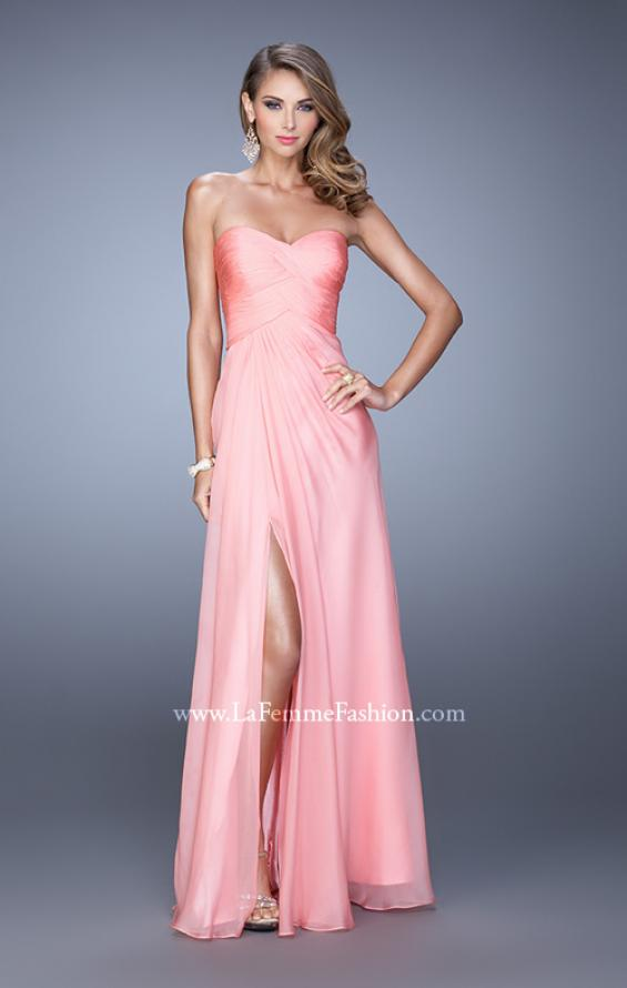 Picture of: Sweetheart Neckline Prom Dress with Crisscross Bodice, Style: 21057, Detail Picture 3