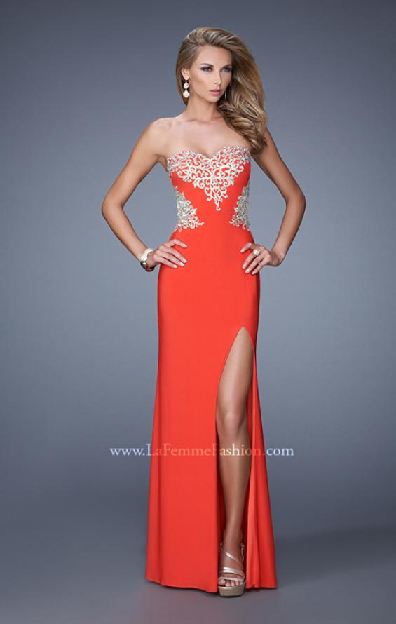 Picture of: Elegant Long Prom Dress with Cut Outs and Open Back, Style: 21073, Main Picture